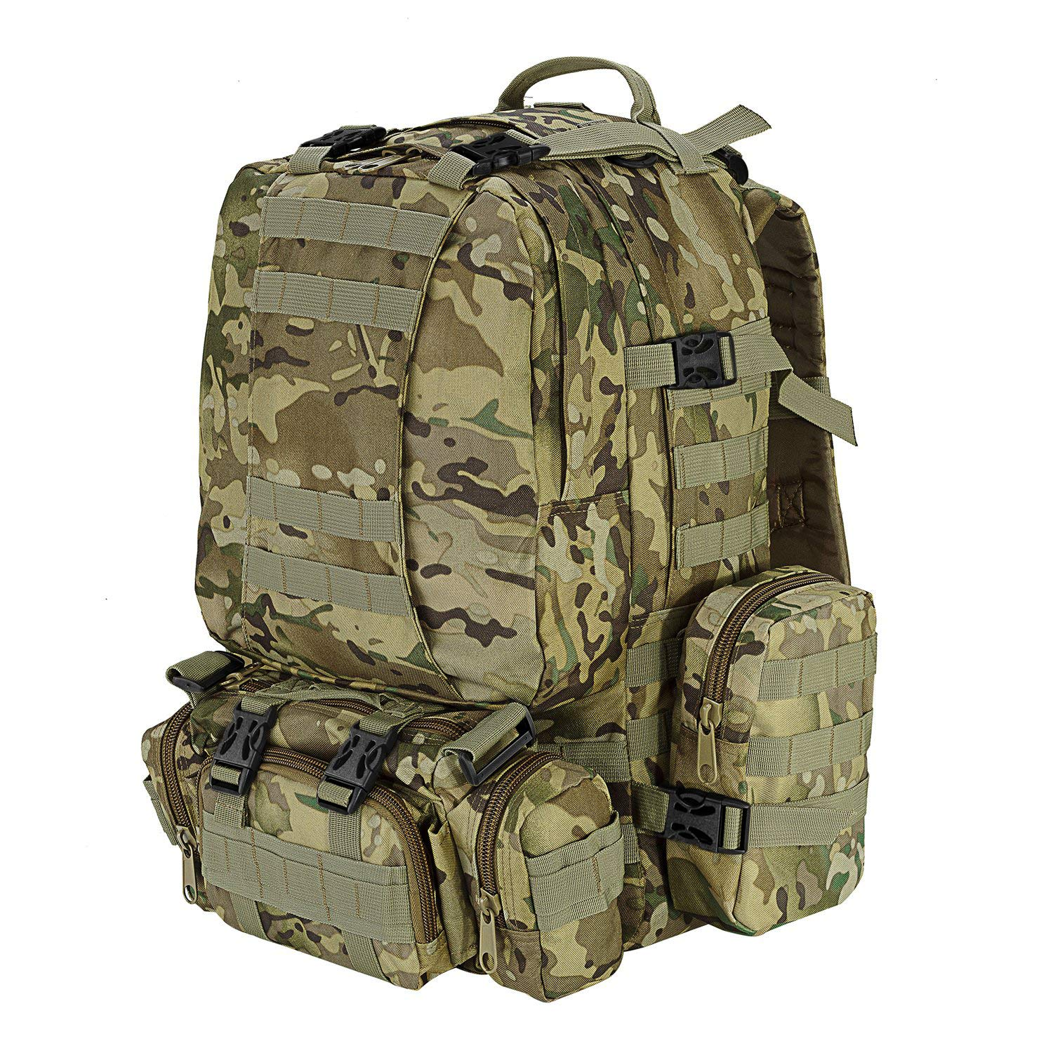 CVLIFE 60L Built-up Military Tactical Army Outdoor Backpacks Assault Combat Rucksack Heavy Bag CP by CVLIFE (Image #3)