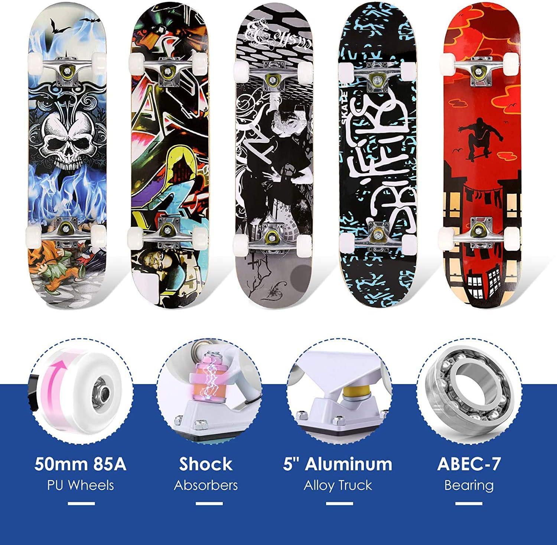 ragazzi 59,9 x 15 cm per principianti skateboard completo ragazzi e ragazzi ragazzi ragazzi ragazzi ragazzi bambini con ruote in acero ragazzi Skateboard per bambini Aixgxt