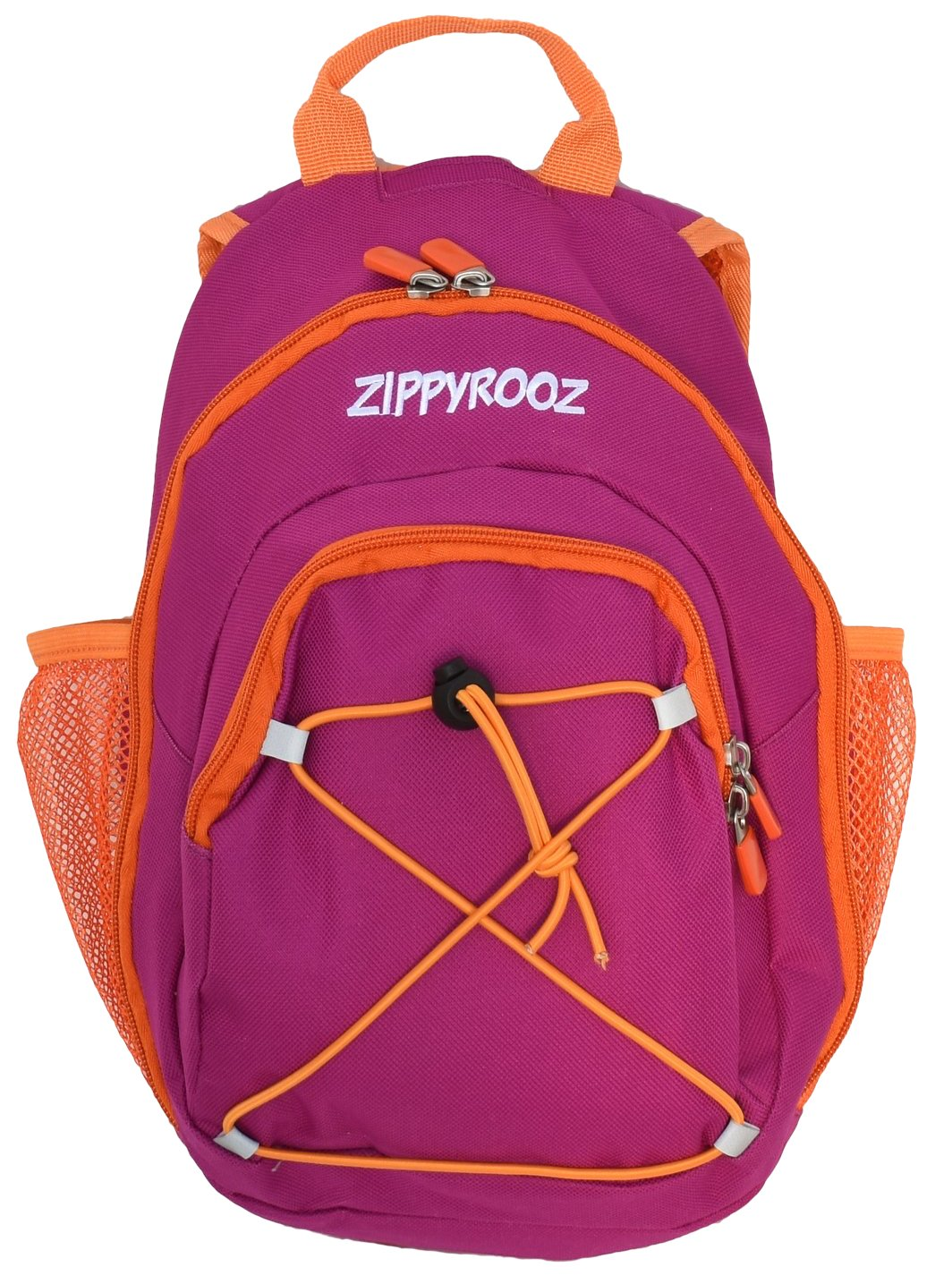 ZippyRooz Toddler & Little Kids Extra SMALL Hiking Backpack for Boys and Girls in 2 Colors (Purple & Orange 2.0)
