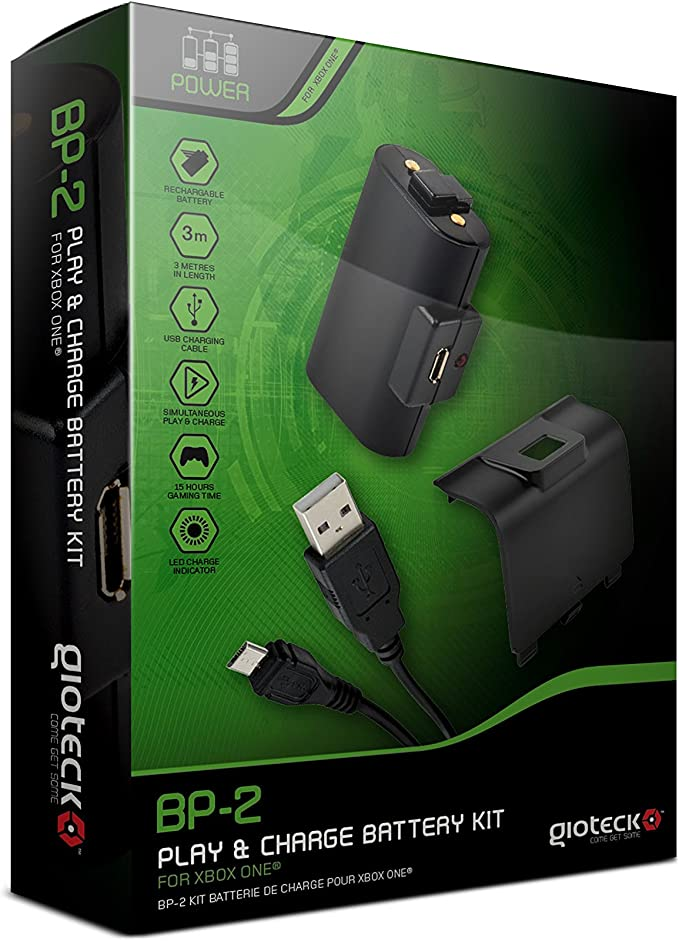 Gioteck - Battery Kit Play & Charge Bp-2 (Xbox One): Amazon.es ...