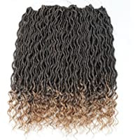 Wavy Faux Locs Crochet Hair Curly Ends Synthetic Braiding Goddess Hair Extensions 6Pcs/Lot.T1B-27