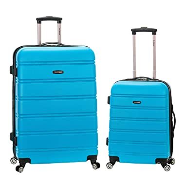Rockland 20 Inch 28 Inch 2 Piece Expandable Abs Spinner Set, Turquoise, One Size