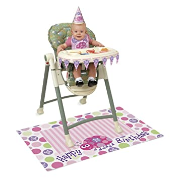 Amazon.com: Unique Party Primer Cumpleaños Trona Kit con ...
