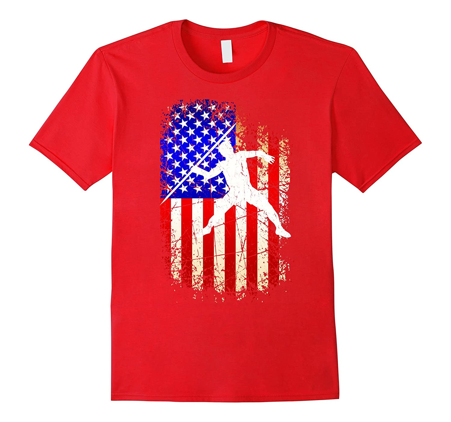 4th of July Javelin Shirt Patriotic American Flag T-Shirt-PL