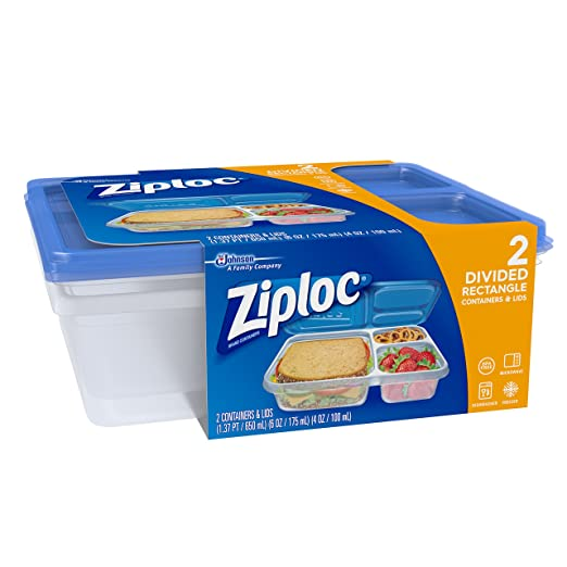 Ziploc Divided Containers