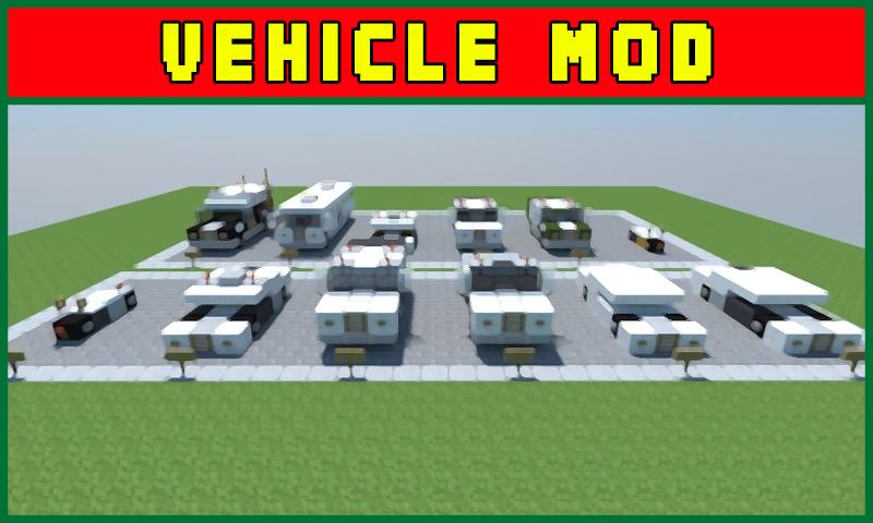 Amazon com: Vehicle Mod Mods Addons For Minecraft Pocket