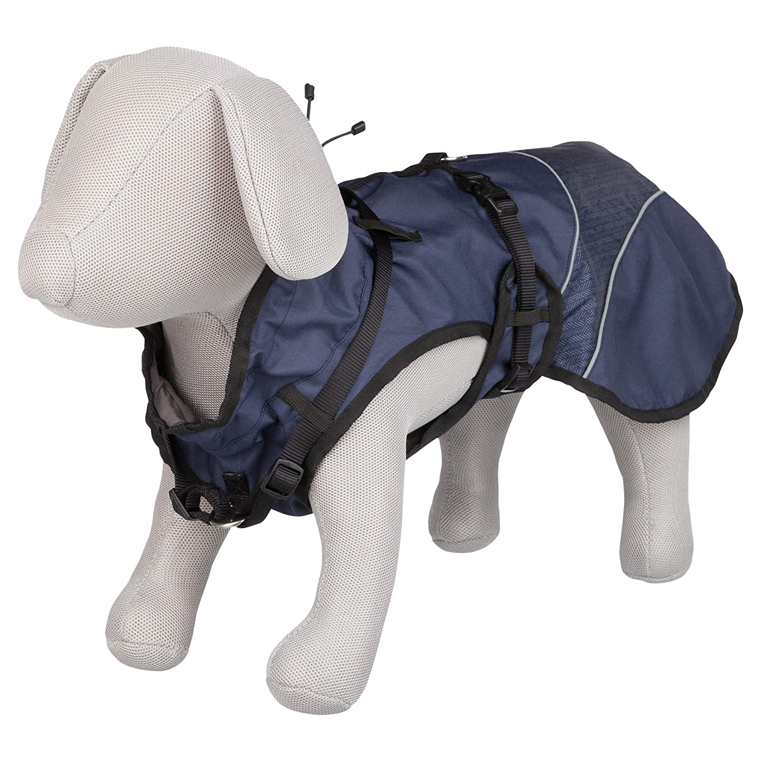 Trixie Duo Coat With Harness M 50cm bluee