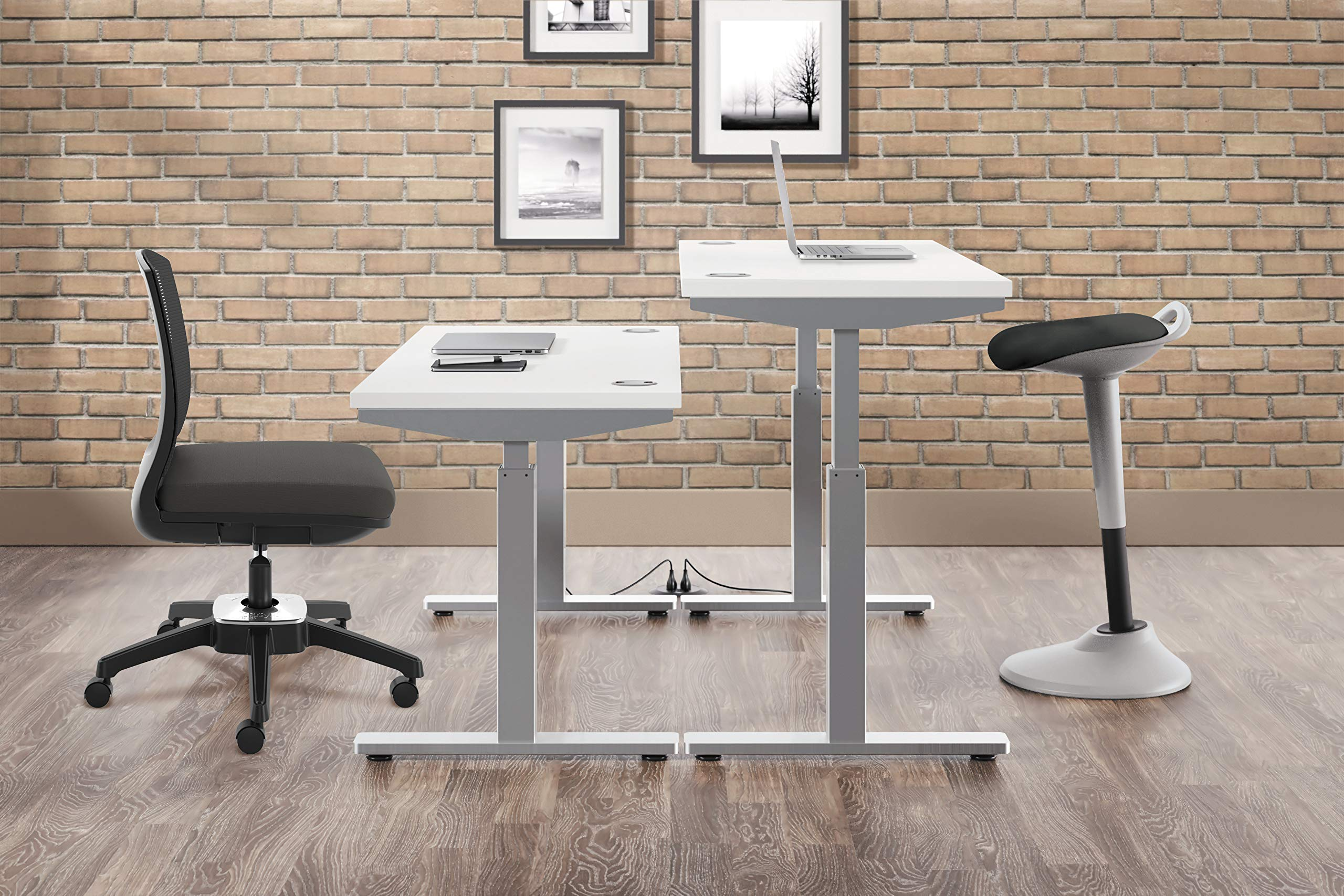 HON Perch Stool, Sit to Stand Backless Stool for Office Desk, Black (HVLPERCH) by HON (Image #2)