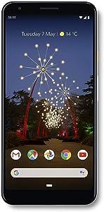 "Google Pixel 3A XL (2019) G020B 64GB (6"" inch, GSM, 4G/LTE, CDMA) Factory Unlocked Smartphone - International Version (Clearly White)"