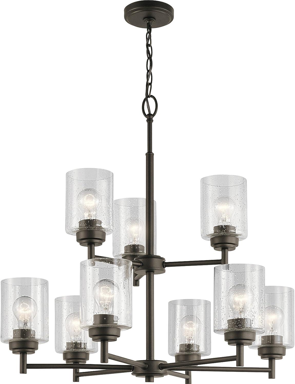 Kichler 44031oz winslow chandelier 9 light 675 total watts olde bronze amazon com