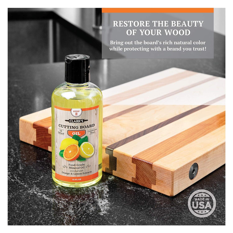 Amazon.com: CLARKS Aceite para tabla de cortar, aceite y ...