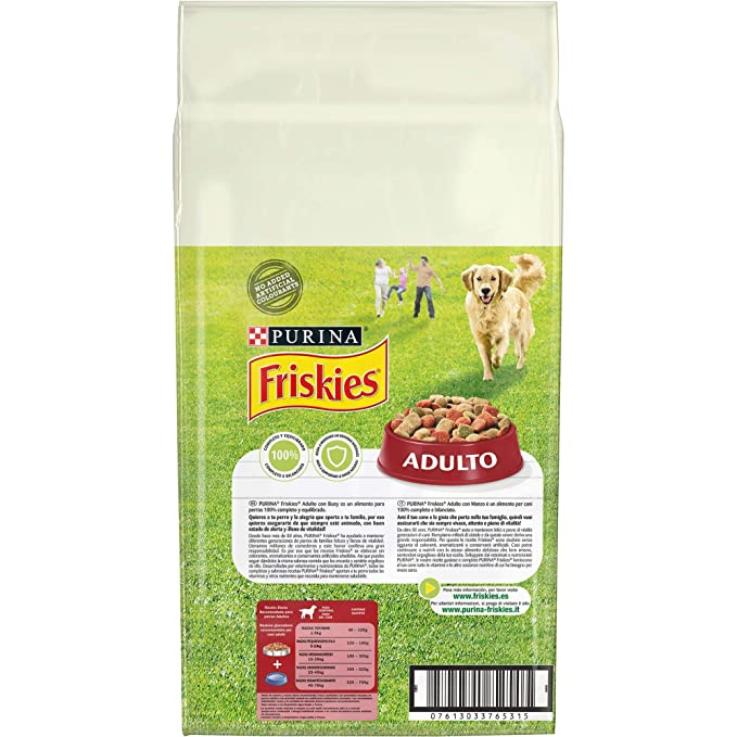 Purina Friskies Pienso para Perro Adulto Buey, Cereales y Verduras 10 Kg: Amazon.es: Amazon Pantry