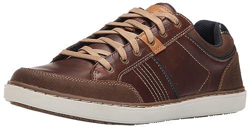 Skechers Lanson-Rometo, Zapatillas de Entrenamiento para Hombre, Marrón (Red/Brown), 41 EU