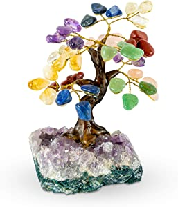 Luma Gems Crystal Tree - Amethyst Healing Chakra Tree of Life - Energy & Feng Shui Amethyst Tree - Crystal Decoration - Directly Sourced from Best Local Quality Control Team - 6