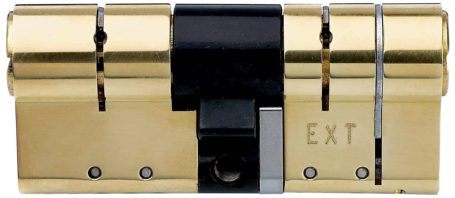 ABS DC3AB5050PB 50 x 50mm Avocet Anti-Snap Euro Cylinder - Polished Brass