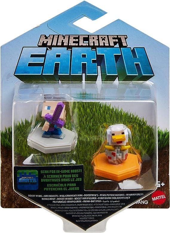Minecraft Boost Pack de 2 Minifiguras Steve y Chicken (Mattel GKT42): Amazon.es: Juguetes y juegos