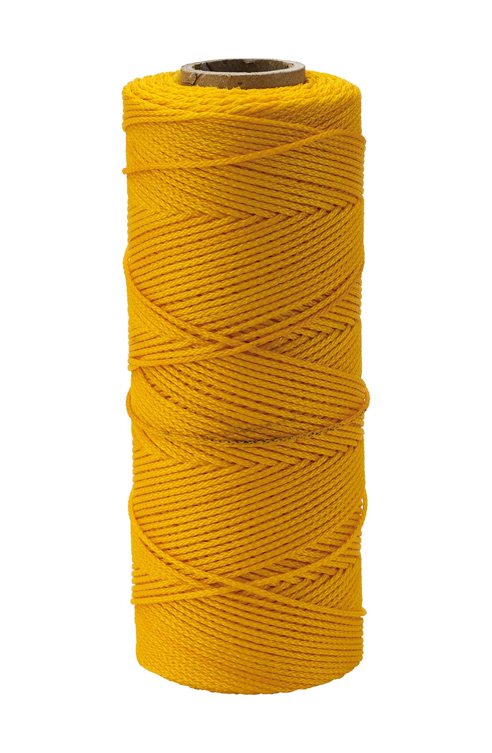 Mutual Industries 14661-41-550 Nylon Mason Twine, 1/2 lb. Twisted, 18 x 550', Yellow (Pack of 6)