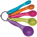 KitchenCraft Colourworks 5 Piece Measuring Spoon Set