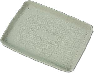 Chinet 20815 StrongHolder Molded Fiber Food Trays, 9 x 12 x 1, Beige, Rectangular (Case of 250)