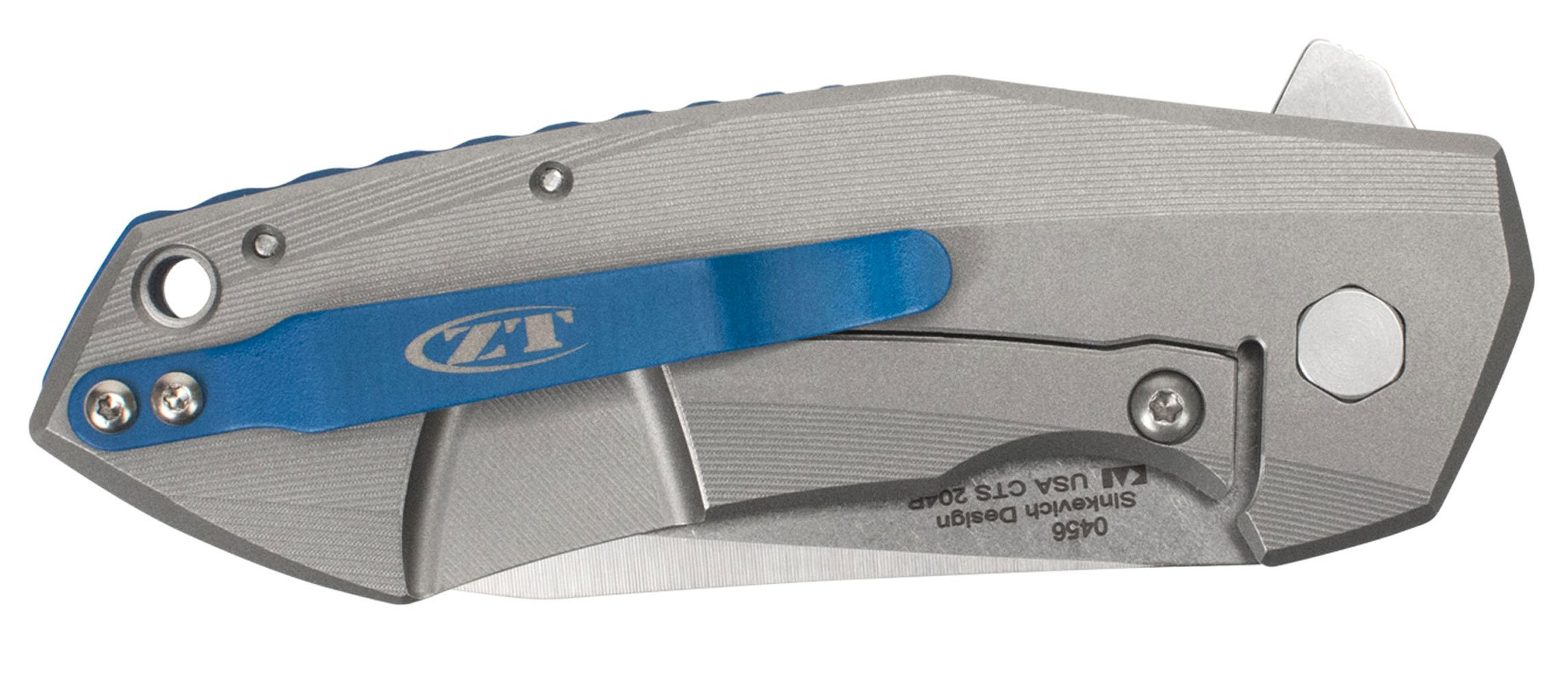 Zero Tolerance 0456 Sinkevich 3.25'' TI Knife, Silver by Zero Tolerance