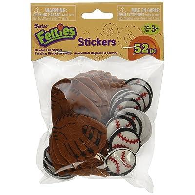 Darice FLT-1021 52Piece, Felties Felt Stickers, Baseball Theme, Brown: Arts, Crafts & Sewing