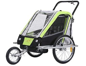 fixi Master Multifunktion 2 en 1 Remolque de bicicleta/Jogger Baby Carrito transportador (mano carro verde BT503): Amazon.es: Bebé