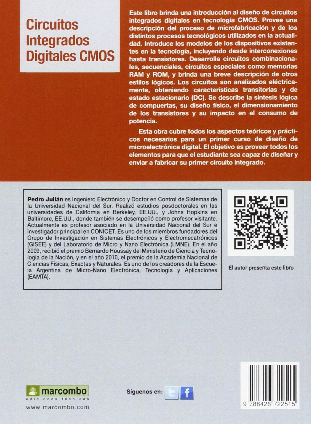 Circuitos integrados digitales CMOS: Anáilisis y diseño: Amazon.es: Julián Pedro : Libros