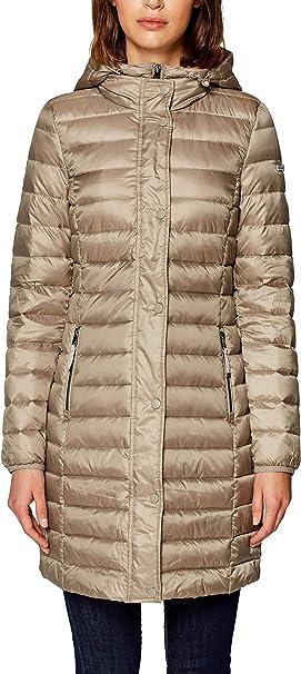 Esprit Damen 128ee1g007 Mantel Braun Taupe 240 Medium Herstellergrosse M Amazon De Bekleidung