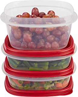 product image for Rubbermaid Easy Find Lids Food Storage Containers, Racer Red, 6-Piece Set