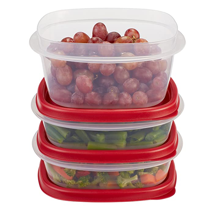 Rubbermaid Easy Find Lids Food Storage Containers, Racer Red, 6-Piece Set 1777166