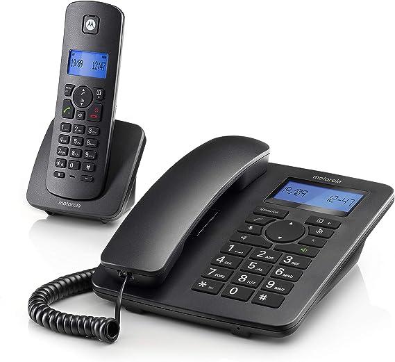 Motorola C4201 Combo - Teléfono Fijo + Teléfono Inalámbrico: Motorola: Amazon.es: Electrónica