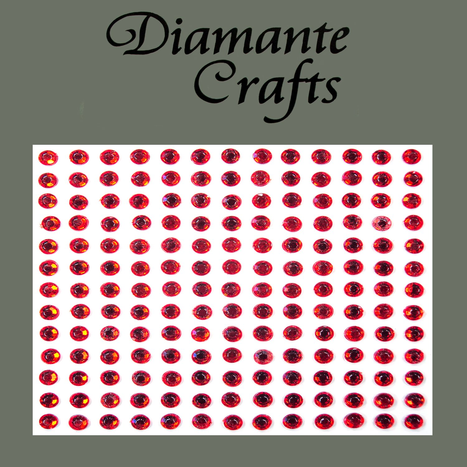 169 x 4mm Red Diamante Self Adhesive Rhinestone Body Rhinestone Gems - created exclusively for Diamante Crafts