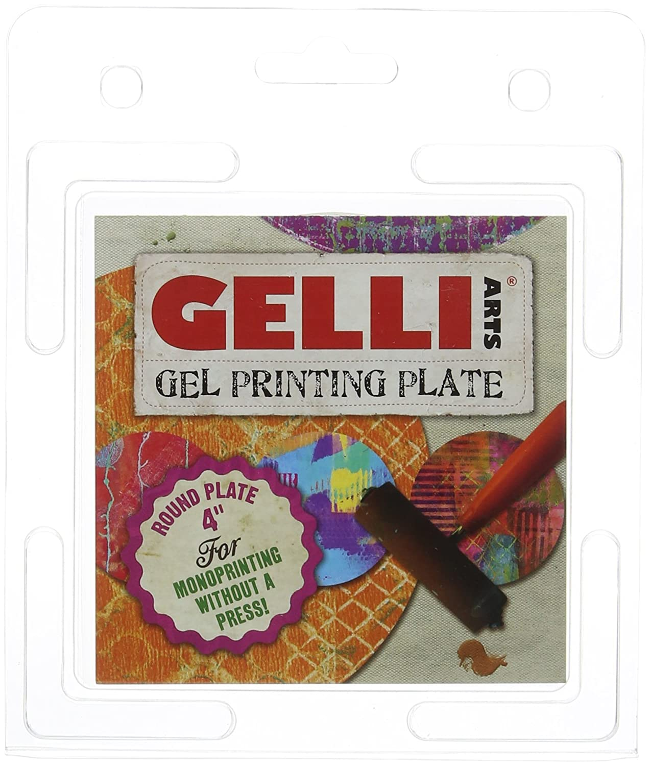 GEL PRINTING PLATE by Gelli Arts | Print gelly press, Craft amazing pictures to show off to your friends, 4X4 Inches Round GL4ROUND