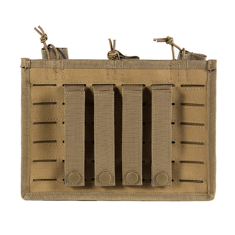 1T Porte Chargeur Triple Avec MOLLE D/écoup/ée au Laser Pour Chargeur du Fusil AK AR G36 M14