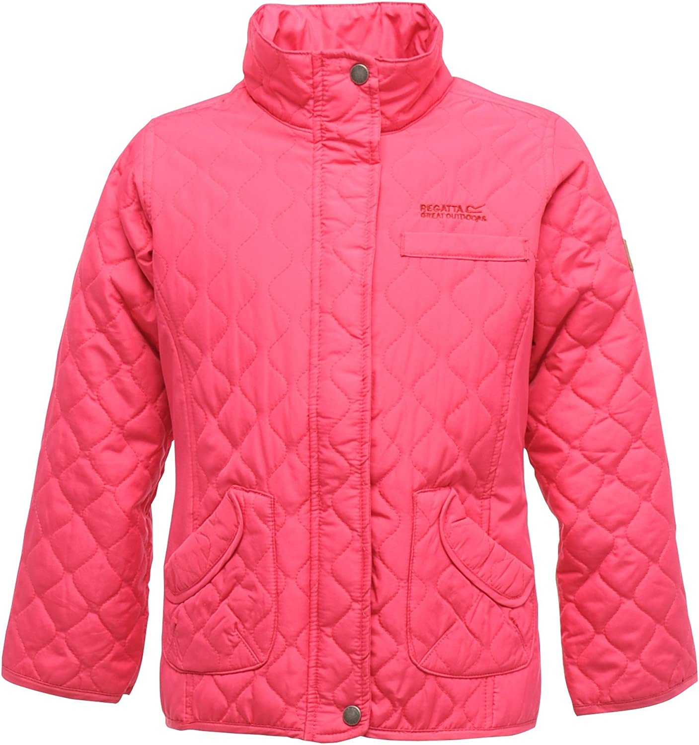 Regatta Phoebus Girls Kids Childrens Water Repellent Quilted Jacket With Thermo-Guard Insulation