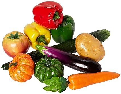 10 Piezasset Artificial Verduras Simulación Verduras