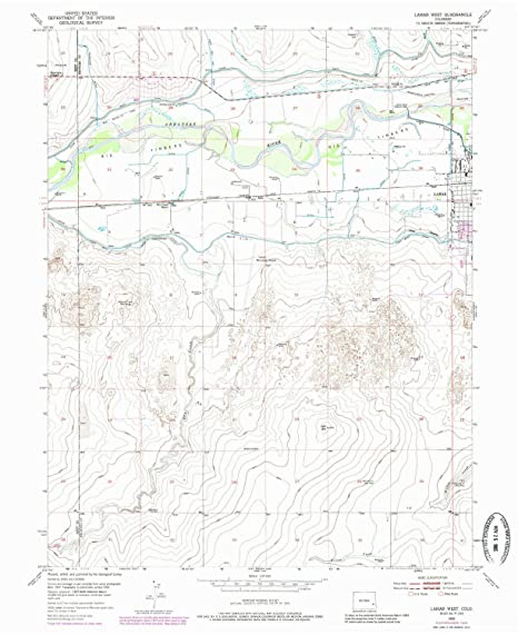 Amazon Com Yellowmaps Lamar West Co Topo Map 1 24000 Scale 7 5 X