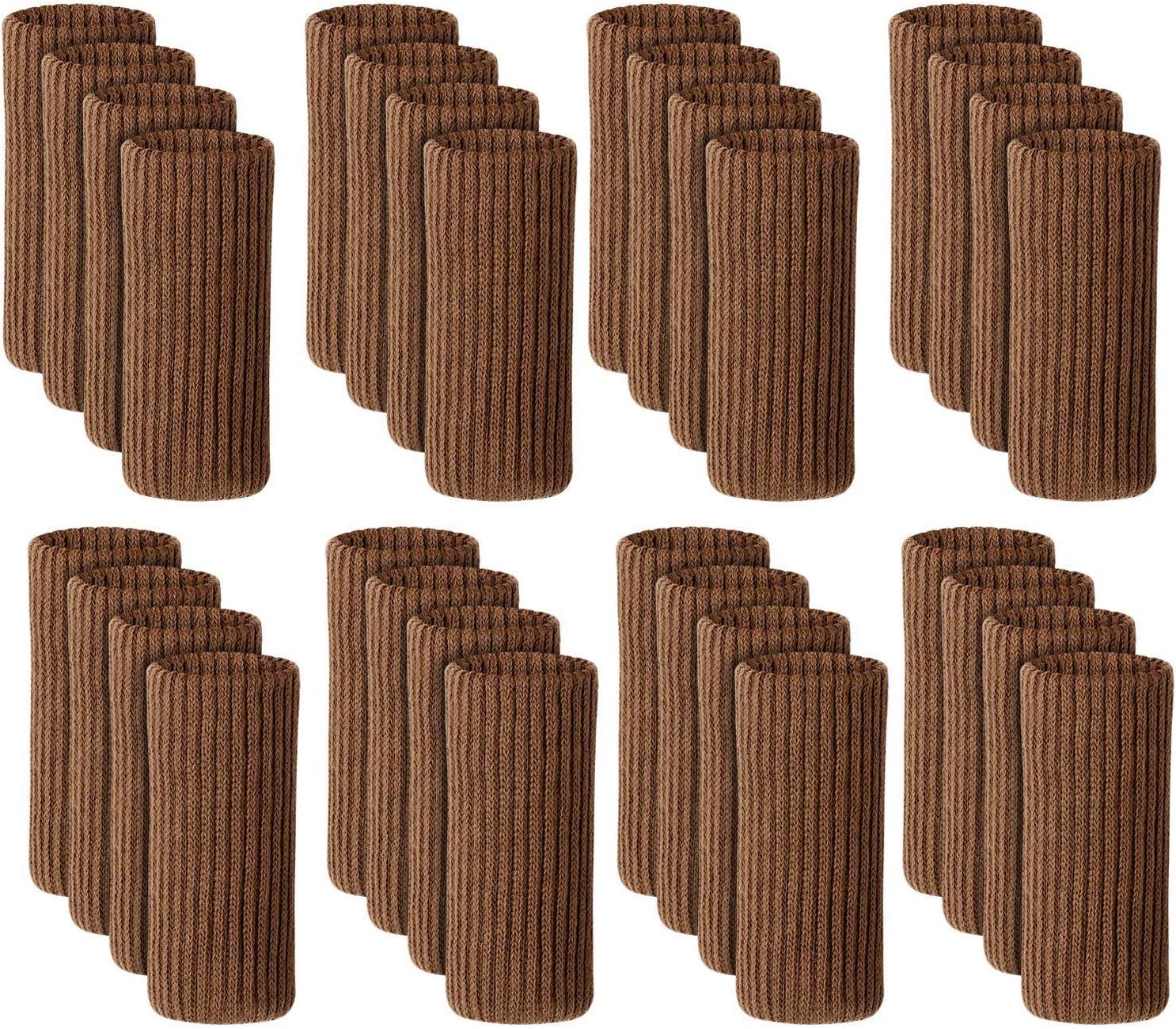 Marron 32 St/ück 37kuku Lot de 32 Chaussettes de Protection antid/érapantes pour Table et chaises