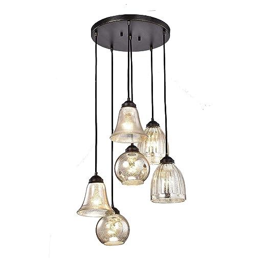 Amazon.com: jojospring Belinda, vidrio antiguo negro y plata ...
