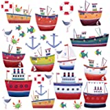 RoomMates Repositionable Childrens Wall Stickers Ship Shape