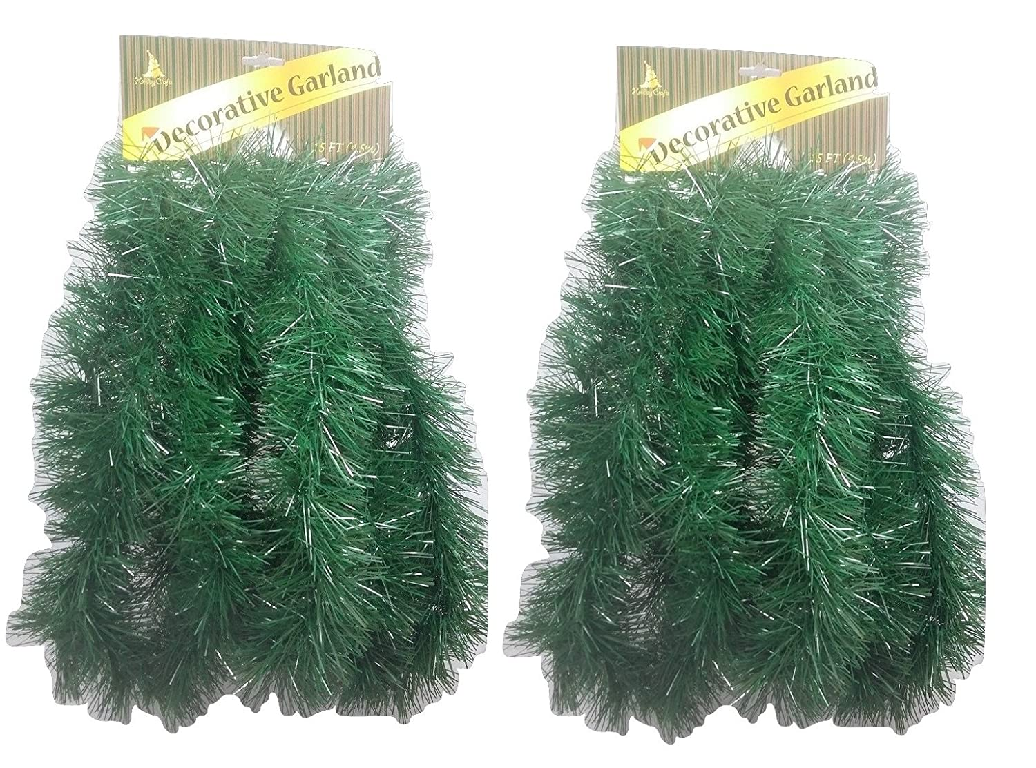 - Total of 30 Feet Set of 2 Decorative Christmas Garland 15 Ft TM Holiday Crafts Pine