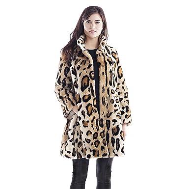 01c31391f2a5 Donna Salyers' Fabulous-Furs Graphic Leopard Faux Fur Swing Coat (X-Small