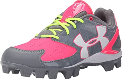 81f3350879f6 Under Armour Glyde RM Women's Baseball Fastpitch Cleats Grey/Pink (5.5 B ...