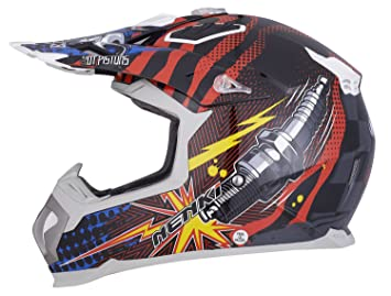 Nenki NK-315 - Casco de moto para conducción off-road