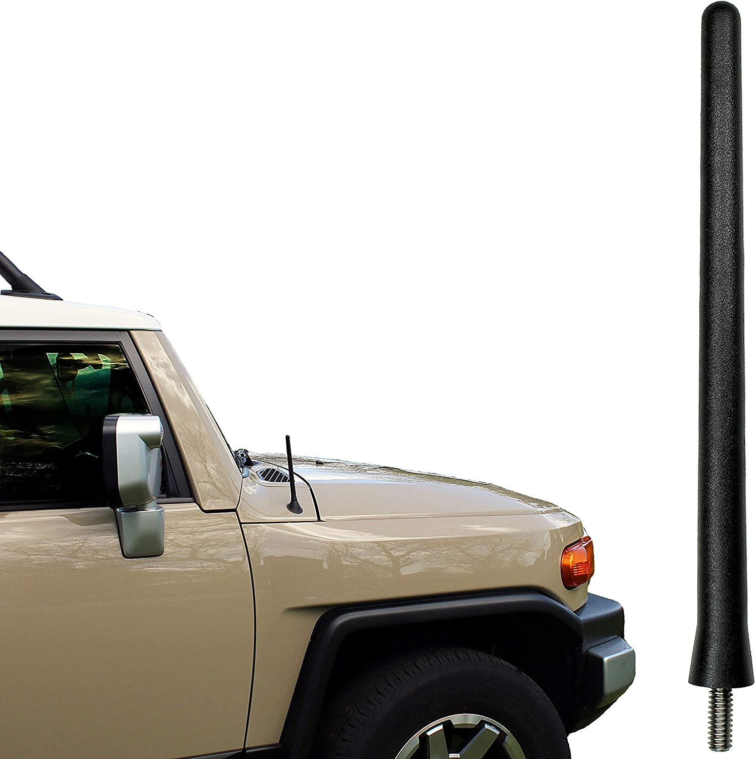 Reception Guaranteed The Original 6 3//4 INCH is Compatible with Chrysler Pacifica - SHORT Rubber Antenna Internal Copper Coil 5558975386 AntennaMastsRus 2007-2008 German Engineered