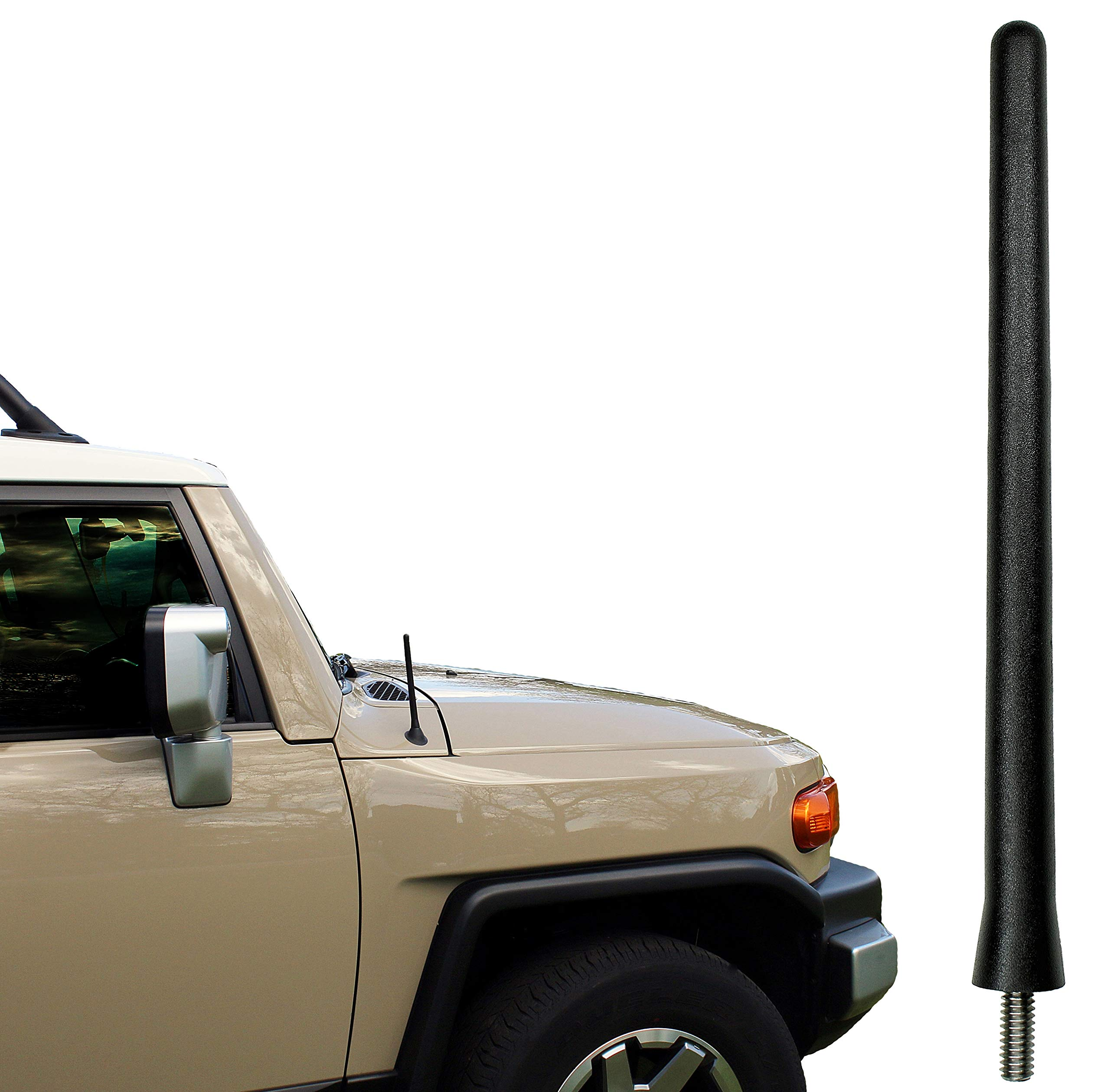 AntennaMastsRus - The Original 6 3/4 Inch is Compatible with Toyota FJ Cruiser (2007-2015) - Car Wash Proof Short Rubber Antenna - Internal Copper Coil - Premium Reception - German Engineered