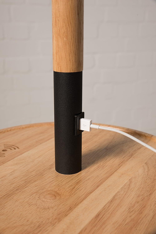 Stehlampe Mit Tisch 137cm Schwarz Ladefunktion Per Usb Anschluss