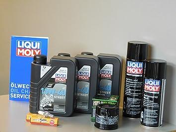 Mantenimiento Set Suzuki Inazuma 250 Inspección Aceite Bujía de aceite Service Cadena: Amazon.es: Coche y moto