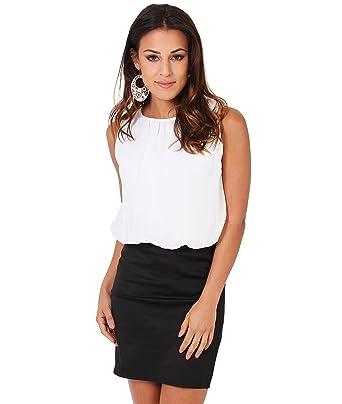 658b6c1d1 Krisp Women's Fashion Summer Office Chiffon Mini Pencil Bodycon Sleeveless  Dress Sleeveless US 4-16 at Amazon Women's Clothing store: