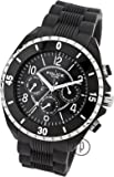 Police Men's Quartz Watch with Black Dial Analogue Display and Black Rubber Strap 13918JSBS/025